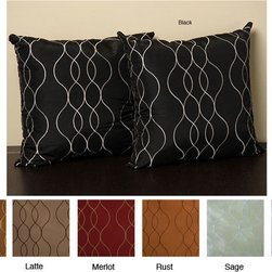 None - Keeva 18-inch Knife Edge Pillows (Set of 2) - Accentuate your furniture with this knife-edge pillow set that can be ordered in the tasteful color options of merlot,rust,latte,black,copper,sage and sky. These accessories by Keeva are designed with faux silk for a smooth touch.