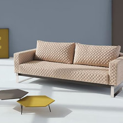 "Innovation USA - ""Innovation USA"" Cassius Coz Sand Sofa with Chrome Legs - Create a warm and cozy atmosphere in the room with this beautiful ""Innovation USA"" Cassius Coz Sand Sofa with Chrome Legs. This sofa has an interesting pattern on the upholstery. Pleasant sand color will look good with any furniture. It can be converted in sofa bed.    Features:"