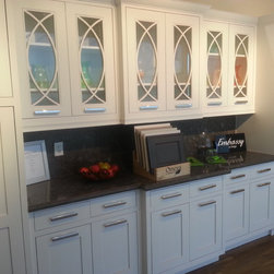 Embassy kitchen design - This is  kitchen display at our showroom that gives you a great look at the many options in Embassy line that can be made as full custom.