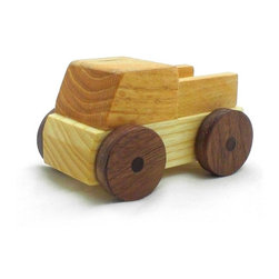 Happy Bungalow - Wooden Truck with Sides Play Toy - Daylight's wasting. Let's get to work.