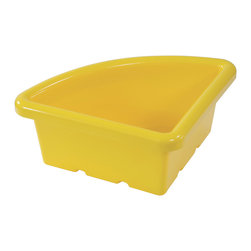 Ecr4kids - Ecr4Kids Quarter Circle Replacement Tray Stroage Unit Without Lid Yellow 20 Pack ...