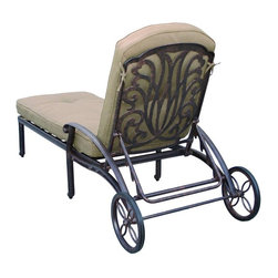 Darlee - Darlee Elisabeth Patio Chaise Lounge - Description: