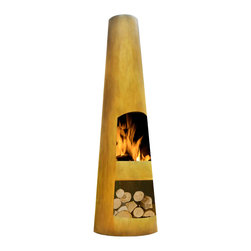 None - Circo Chimenea - Ideal for entertaining all year round,this contemporary chimenea burns solid fuel and is the perfect addition to any patio or backyard. Constructed from corten steel,its modern appearance is sure to create an inviting space for your family and friends.