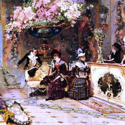"Luis Alvarez Catala The Flower Shop - 14"" x 28"" Premium Archival Print - 14"" x 28"" Luis Alvarez Catala The Flower Shop premium archival print reproduced to meet museum quality standards. Our museum quality archival prints are produced using high-precision print technology for a more accurate reproduction printed on high quality, heavyweight matte presentation paper with fade-resistant, archival inks. Our progressive business model allows us to offer works of art to you at the best wholesale pricing, significantly less than art gallery prices, affordable to all. This line of artwork is produced with extra white border space (if you choose to have it framed, for your framer to work with to frame properly or utilize a larger mat and/or frame).  We present a comprehensive collection of exceptional art reproductions byLuis Alvarez Catala."