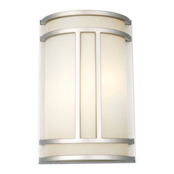 DHI-Corp - Easton 2-Light Wall Sconce, Satin Nickel - The Design House 517706 Easton 2-Light Wall Sconce is made of formed steel, tea stained glass and finished in satin nickel. This 2-light wall mount is rated for 120-volts and uses (2) 13-watt GU24 compact fluorescent bulbs. This sconce's petite design mounts seamlessly to the wall without a chain or visible wires. Measuring 12-inches (H) by 7.75-inches (W), this 2.86-pound fixture can be mounted facing up or down depending on location and preference. Subtle curved steel accentuates the tea stained glass to create a modern centerpiece in a hallway, entry way or bathroom. This product is UL and CUL listed and approved for damp areas. The Easton collection features a beautiful matching chandelier, vanity light, ceiling mount and mini pendant. The Design House 517706 Easton 2-Light Wall Sconce comes with a 10-year limited warranty that protects against defects in materials and workmanship. Design House offers products in multiple home decor categories including lighting, ceiling fans, hardware and plumbing products. With years of hands-on experience, Design House understands every aspect of the home decor industry, and devotes itself to providing quality products across the home decor spectrum. Providing value to their customers, Design House uses industry leading merchandising solutions and innovative programs. Design House is committed to providing high quality products for your home improvement projects.