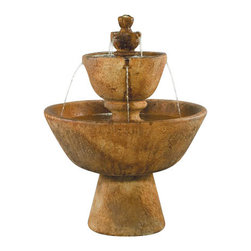 Tuscan Garden Fountain, Autumn Leaf - The Tuscan Garden Fountain is surely going to be a treasured possession because it's pleasing to the eye and it creates a relaxing ambiance. If you're looking for a way to impress people, having this fountain is a great way to do that. It's a perfect match for any garden or outside setting.