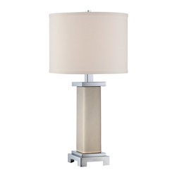 Quoizel - Quoizel Q1458TPK - This 1 light Table Lamp from the Signature collection by Quoizel will enhance your home with a perfect mix of form and function. The features include a Polished Nickel finish applied by experts.