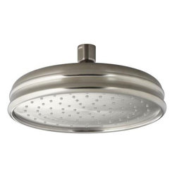 "Kohler - Kohler K-13692-BN Vibrant Brushed Nickel Rainhead 8"" Traditional Round - 8"" Traditional Round Rain Showerhead from the Rainhead Collection The new KOHLER Rainhead collection delivers the most comprehensive offering of rain showerheads available in the market today, providing an affordable and scalable showering solution that coordinates designs and finishes with the rest of the KOHLER faucets and accessories.  Elegant Traditional Styling Creates the Perfect Complement to any Period Inspired Custom Shower Installation Superior Spray Performance with Katalyst Spray Technology Delivers a Luxurious and Drenching Rain Experience Optimized Sprayface Design Creates a Denser Uniform Spray Pattern for Consistent Coverage and Feeling of Warmth MasterClean Sprayface with Translucent Nozzles Resists Mineral Buildup and Ensures Reliable Performance for Years to Come 2.5 Gallons Per Minute Flow Rate Solid Brass Construction Ensures Durability and Reliability Comprehensive Finish Offering Compliments Kohler  s Complete Faucet and Accessory Program"