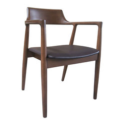 #N/A - Adriano Arm Chair Brown - Adriano Arm Chair Brown. Style: Modern, Width: 15, Depth: 11, Height: 25