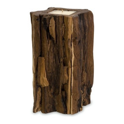 IMAX CORPORATION - Large Teakwood Candle - Natural teak wood stump candle. Find home furnishings, decor, and accessories from Posh Urban Furnishings. Beautiful, stylish furniture and decor that will brighten your home instantly. Shop modern, traditional, vintage, and world designs.