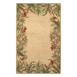 """Kas - Country & Floral Sparta 8'6""""x11'6"""" Rectangle Ivory Area Rug - The Sparta area rug Collection offers an affordable assortment of Country & Floral stylings. Sparta features a blend of natural Black color. Hand Tufted of 100% Wool the Sparta Collection is an intriguing compliment to any decor."""
