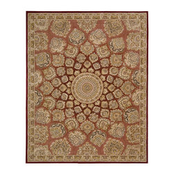 """Nourison - Nourison 2000 2318 3'9"""" x 5'9"""" Rose Area Rug 06627 - Traditional Persian palmettes whirl around a center medallion in this stunning rug. Its soft rose madder background lends an antique impression for instant design elegance. An opulent and very livable choice for the sophisticated home."""