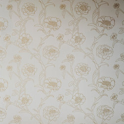 LOLLIPROPS, INC., LPI - Peonies Removable Wallpaper, Gold Leaf - Every room benefits from the hint of romance that flowers bring. These peonies add the perfect layer of sophisticated floral design, especially on one statement wall. And the peel-and-stick technology makes it easy to apply and then remove when you're ready for a new look. What's not to love about that?