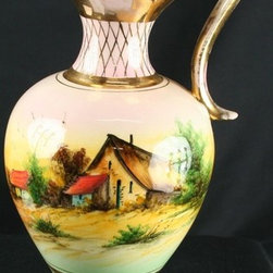 EuroLux Home - Consigned Vintage Bequet Pitcher Hand-Painted Country - Product Details