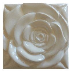 Roza - White Rose White Rose Tile - Wall Décor,