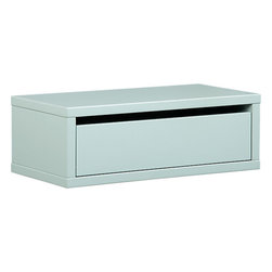 Slice Mint Wall-Mounted Storage Shelf - If space is really at a premium, wall-mounted storage is a good option. I like these small wall cabinets in a range of fun colors.
