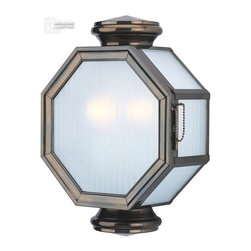 Troy Lighting - Troy Lighting Lexington Transitional Outdoor Wall Sconce X-BH3002B - From the Lexington Collection comes this unique design that will draw the eye in and compliment a variety of outdoor settings. This stylish Troy Lighting outdoor wall sconce features sturdy solid brass construction finished in a rich Heritage Bronze hue. A frosted ribbed glass shade adds texture and pulls the look together.