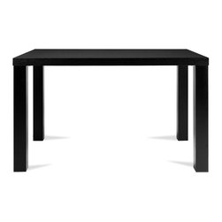 Bryght - Brent Black Dining Table For 4 - The Brent dining table with its clean symmetrical lines is a modern design aficionado favorite. Jazz it up to your heart's content when entertaining family and friends. Also available in a Walnut and White finish.
