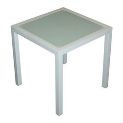 Jaavan - Jaavan Pure 18 Square Wood End Table - Jaavan offers high quality synthetic wicker outdoor furniture. Jaavan is modern and durable using only HDPE (high density polyethylene) from Germany and aluminum frames. Jaavan has a large inventory and is able to provide furniture for restaurants and furniture for hotels from their own stock avoiding the extended waiting times to their customers. Jaavan carries one of the most extensive collections of luxury patio furniture commercial patio furniture and custom patio furniture in the industry. Their outdoor furniture collections have been awarded with numerous prestigious design awards. Jaavan products are made to withstand extreme temperatures sun humidity rain snow and salt. They are also non-toxic and environmentally friendly.