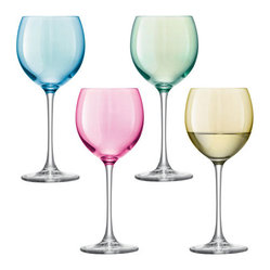Polka Wineglasses, Pastel
