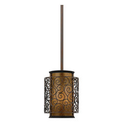 Quoizel Lighting - Quoizel Lighting MC843PRC 1 Light Rod Hung Mini Pendant Ceiling Fixture - This artistic piece is an addition to the Quoizel Naturals collection.
