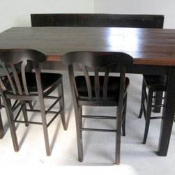 Pub Style Kitchen Table - Made by http://www.ecustomfinishes.com