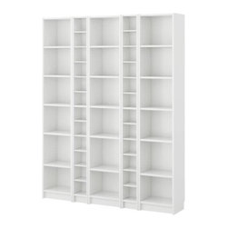 IKEA of Sweden - BILLY/BENNO Bookcase combination/CD/DVD shelves - Bookcase combination/CD/DVD shelves, white