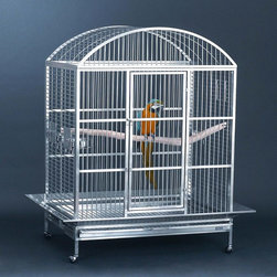 Avian Adventures - Grande Dometop Bird Cage - 1705004102 - Shop for Bird Cages and Stands from Hayneedle.com! What We Like About This Bird CageGreat for cockatoos macaws and toucans this bird cage has it all. Complete with a natural hardwood interior perch an exterior crossbar perch bird-proof door locks three stainless steel feeding bowls lift-off top and a breeder box this cage comes with all the necessary accessories. It's crafted from durable powder-coated steel and is available in a variety of colors. Plus it assembles easily without the use of tools. Includes a 6-month manufacturer's warranty.About Mid-West Metal ProductsIn 1921 Mid-West Metal Products made only one item a Kruse Switch Box Support and over the years began manufacturing millions of wire and sheet metal component parts. By 1960 they were producing training crates for pets. Today Midwest Homes for Pets a division of Mid-West Metal Products produces and markets a variety of pet containment products. These products include dog crates training puppy crates dog kennels cat playpens bird cages vehicle barriers soft-sided carriers grooming tables and much more. They also manufacture a full line of pet accessories like beds and feeding dishes.