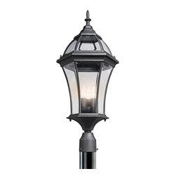 Kichler Lighting - Kichler Lighting 49188BK Townhouse Painted Black Outdoor Post Light - Kichler Lighting 49188BK Townhouse Painted Black Outdoor Post Light