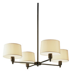 Robert Abbey - Real Simple Chandelier, Deep Bronze - Hang this beautiful chandelier in your home and shed light on how stylish simple can be.