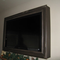 TV Frame Products - These affordable TV frames are custom made to your TV specs.  Prices start at $200.