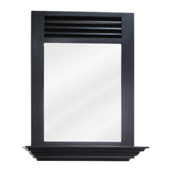 """Elements - Elements MIR079 Lindly Collection Rectangular 25-1/2 x 30 Inch Bathroom Vanity M - Lindly Collection 25-1/2 x 30 Inch Bathroom Vanity MirrorThis fashionable portrait hung Elements Bathroom Vanity Mirror with its rectangular  design is a perfect complement to any bathroom or vanity. From the Lindly Collection, this 25-1/2"""" x 30"""" espresso mirror with 4"""" shelf and beveled glass projects the same quality and class as the person looking into it.Vanity Mirror: Designed to accompany the Elements vanity (VAN079), this mirror looks great as either part of a vanity set, or as a standalone accessory. Features:"""