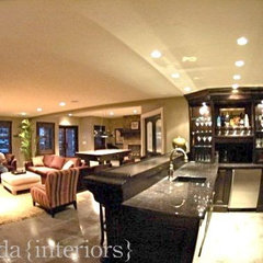contemporary basement by Veranda Estate Homes &amp; Interiors