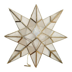 Kouboo - Star Tree Topper in Capiz Seashell - 1 year limited warrantyHandset capiz seashell on metal frameClean with dry, soft clothWeighs 0.4 lb