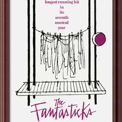 "Amanti Art - The Fantasticks Framed Print - A classic American musical play also features timeless poster art that you can proudly display in any room of your home. ""The Fantasticks"" had over 17,000 performances, and this print will keep the show running as long as you want."