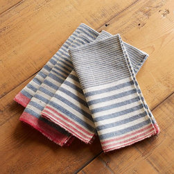 Harbor Stripes Napkins, Set of 4 -