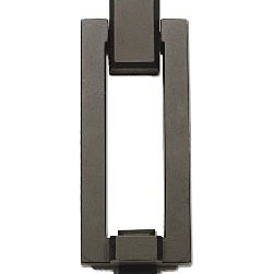 Atlas Homewares Mission Door Knocker - Lovers of modern lines will adore this streamlined door knocker, and it will give your guests a taste of what they are sure to find inside your home.