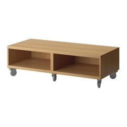 IKEA of Sweden - BESTÅ Bench with casters - Bench with casters, beech effect