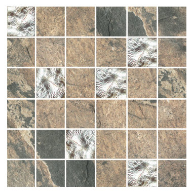 Raja Collection Vijay Sand Mosaic with Glass - Raja replicates the exotic slate found in India thanks to the most advanced inkjet technology.