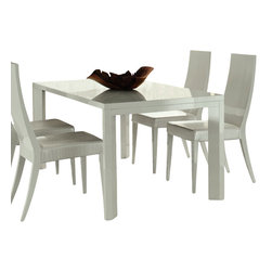 Rossetto - White Nightfly Dining Set - Features: