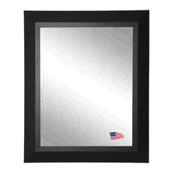 Rayne Mirrors - Attractive Matte Black 25.5 x 63.5 Full Body Mirror - This American made wall mirror is a handsome addition to almost any room of the home. With a matte black finish and clean lines, the look is bold yet understated. The sleek and contemporary design features modern non beveled glass.
