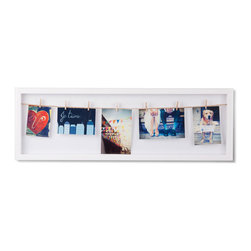 Pics On A Wire Frame - We love the laid-back look of pictures clipped on a wire. Hang frame vertically or horizontally.