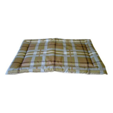 Carolina Pet Company - Brutus Tuff Napper, Blue/Brown Plaid, 24 X 19 X 2 - Super tough for pets that are rough on their beds.  1200D Polyester fabric makes this the perfect bed for pets that like to scratch or chew.  Easy off zippered cover  for easy care.  Machine washable.  100% recycled high loft Polyester fill keeps pets off cold floors for added comfort and relief on hips, joints and pressure points.