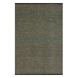 """Loloi Rugs - Loloi Rugs Green Valley Collection - Black, 3'-6"""" x 5'-6"""" - Hand woven in India of seagrass and cotton, the Green Valley Collection breathes organic beauty in the floors of any home with these solid and striped designs. And with a raw textural surface, Green Valley adds a distinctly natural vibe to the room."""