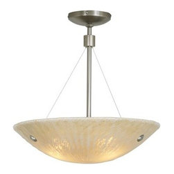 LBL Lighting - LBL Lighting Ambra 150W 1 Light Track Pendant - LBL Lighting Ambra 150W 1 Light Track PendantShowcasing an intricate handcrafted Italian glass bowl with a gorgeous Amber scavo finish, this stunning pendant will add grace and style to any room. Install this fixture even on ceilings with up to a 45 degree slant with the integral sloped ceiling canopy. This beautiful fixture is lit by an included 150 watt halogen bulb.LBL Lighting Ambra 150W Features:
