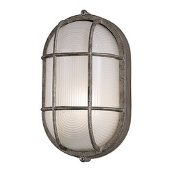 Forecast Lighting - Forecast F90796-65NV Oceanview Silver Outdoor Wall Sconce - Forecast F90796-65NV Oceanview Silver Outdoor Wall Sconce