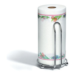 Spectrum Diversified Designs - Pantry Works Paper Towel Holder - Deluxe, Chrome - From the Pantry Works Collection, this deluxe chrome  Paper Towel Holder is built with a wide base to prevent tipping while you tear. Made of sturdy steel with a chrome finish.
