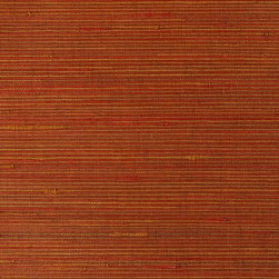 Duo jute Red & Yellow Grass Cloth Wallpaper - If your walls could talk, they'd tell your guests how carefully you chose this ecofriendly wallpaper. Imagine that: wall decor with a conscience! These warming color choices make any room instantly cozy with their textured look. Made of environmentally friendly materials, they're easy to clean, too!