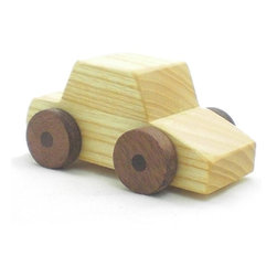 Happy Bungalow - Wooden Toy Car - Zip! Zoom! This car is fast, but be careful the police don't stop you for speeding.