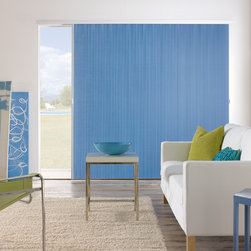 "Bali Verticell - 3/8"" Northern Lights Vertical Cellular Shades - Choose Bali VertiCell for the style and energy efficiency of Cellular Shades with a convenient side-opening design. VertiCell Shades offer a stylish way to insulate wide windows and patio doors. Cellular design provides a refined look and improved insulation and sound absorption. Now available in four opacities and with coordinating rails in Cream, Milk Chocolate or White Satin."